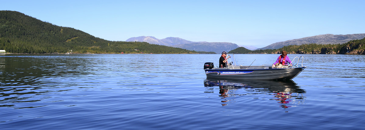 Fishing in Velfjord, Norway